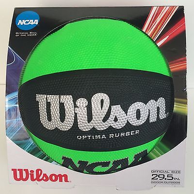 Official NCAA Wilson Optima Rubber Basketball Green & Black BRAND NEW! 29.5""