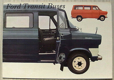 FORD TRANSIT BUSES Sales Brochure Aug 1968 #547361/8/68  9-12-14-15 SEATER