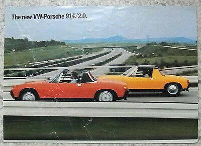 VW PORSCHE 914/2.0 SPORTS CAR Sales Brochure 1973-74 #1005.20