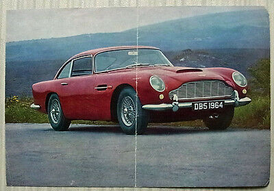 ASTON MARTIN DB5 SALOON Car Sales / Specification Leaflet 1964