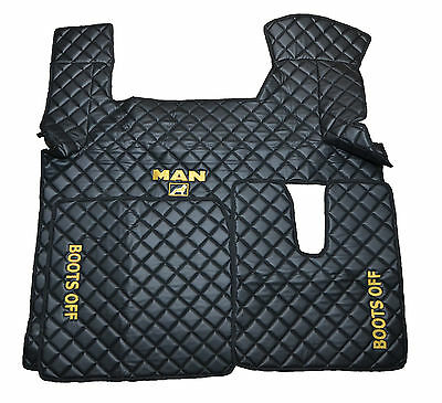 ~ Eco Leather ~ Engine Cover And Floor Mats For Man Tgx Xxl Automatic
