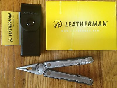 Leatherman Fuse Multitool Multiplier Silver New Mint Leather Case New Box