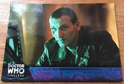 2016 Topps DOCTOR WHO Timeless #39 - The End of the World - Blue Parallel 11/99