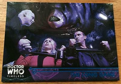 2016 Topps DOCTOR WHO Timeless #41 - The Long Game - Blue Parallel 02/99