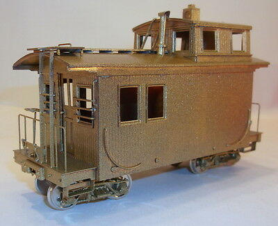 "On3 BRASS WSM ""FLORENCE & CRIPPLE CREEK "" SHORT WOOD CABOOSE # 5 UNPAINTEDa"