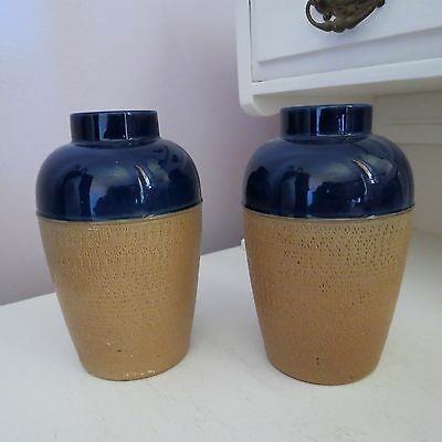 Pair of royal doulton stoneware vases early 20th century