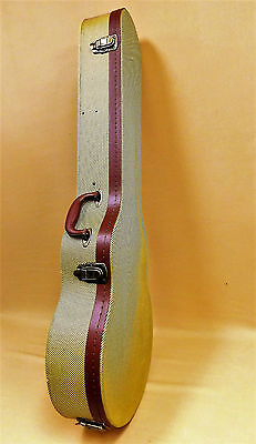 Vintage Tweed Lockable Hard Case for Les Paul Electric Guitars