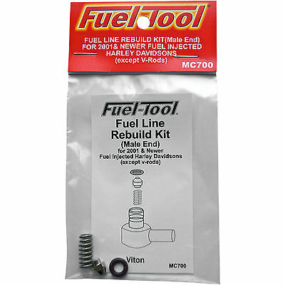 Fuel-Tool Fuel Line Fittings Kit for Harley-Davidson 0706-0295 Brass/Stainless