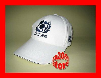 New White Scotland Flag Rugby Adults Baseball Cap Hat