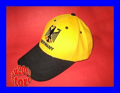 New Yellow German Germany Rugby Adults Baseball Cap Hat
