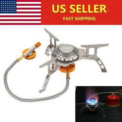 Outdoor Camping Gas Stove Cooking Portable Foldable Split Burner 3000W Q7S4