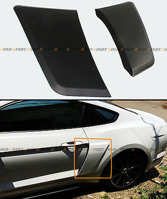 For 2015-2018 Ford Mustang GT Style Rear Fender Penal Flare Side Scoops Vents