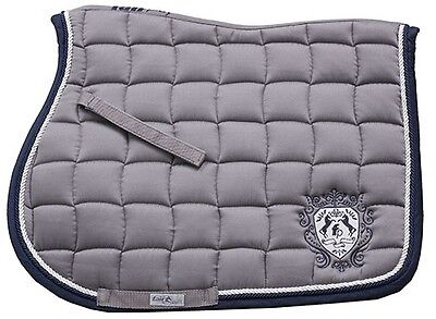 New! Fair Play Grey Show Jumping Saddle Cloth Size Full