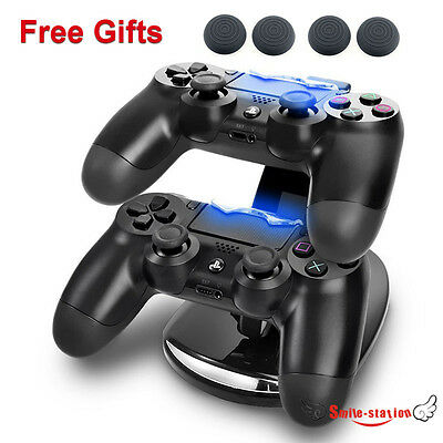 Dual USB Charging Charger Docking Station Stand for Sony Playstation4 Controller