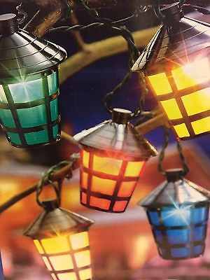 SALE 40 LED Multi Coloured Chasing Lantern Lights - Outdoor Christmas Lights