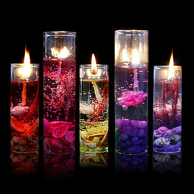 Glass Bottles Ocean Theme Smokeless Jelly Wax Wedding Party Gel Candles Seraphic