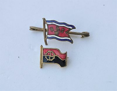 Vintage BDS Norway  & other Sailing / Yacht  Shipping? Flag pin badges