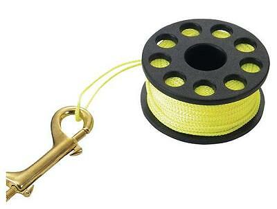 Scuba Diving Finger Spool - Large- 50 Metres/165ft Neon Line