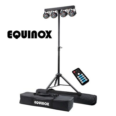 Equinox MicroPar Bar System All-in-One T-Bar LED Par DJ Disco Lighting Kit