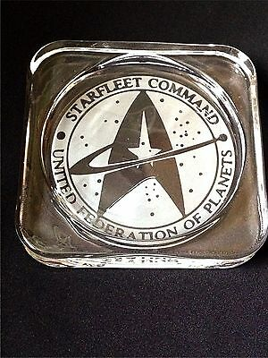 Star Trek - Starfleet Command Engraved Glass Coaster - New