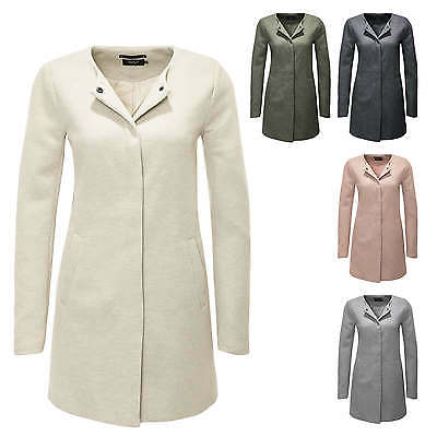 Only Cappotto da donna Giacca Manica lunga Business Trench Color Mix NUOVO