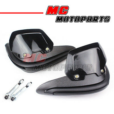 Black Hand Guards Mount Set for Aprilia Shiver 750 Dorsoduro SMV 1200 ETV 1000