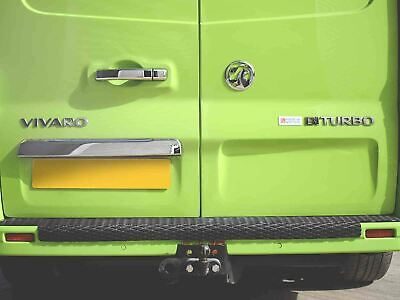 Chrome Stainless Steel Rear Door Grab Handle Cover for Vauxhall Vivaro (2014 on)