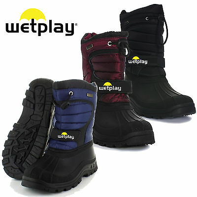 Wetplay Kids Waterproof Winter Lined Snow Boots Wellies Boys Girls Childs Welly
