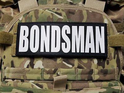 BONDSMAN 3X8 Raid Patch for Plate Carrier with Hook Backing Bail Bonds Agent