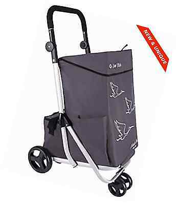 Shopping Trolley Monte Bus 4 Wheels - Large Shopper Capacity 79L - Lightweight