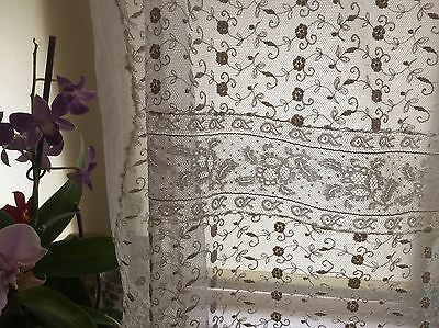 SHABBY Antique VICTORIAN net lace coverlet Patchwork Veil ? for projects