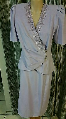 Womens Casadei By Stiches Brand S10 Suit Skirt Top Lilac Rrp120