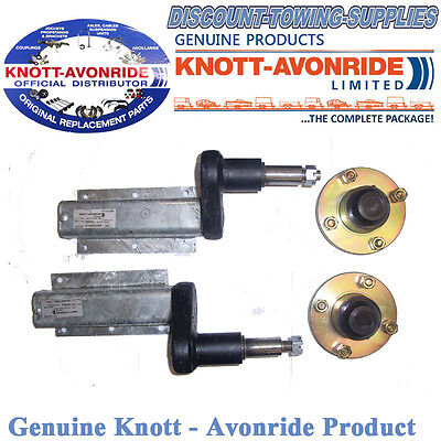 """Genuine Knott-Avonride 350kg Pair of Suspension Units Complete With 4"""" PCD Hubs"""