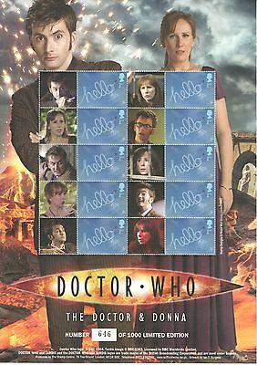 BC-215 2009 Doctor Who & Donna Business Smilers Sheet