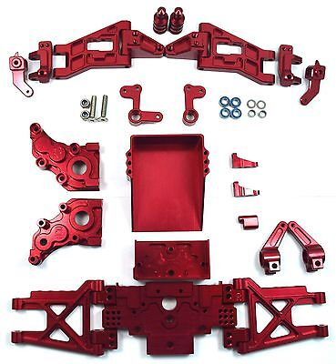 Dhawk Racing Aluminum Conversion Kit Red For Team Associated RC10 World's Car
