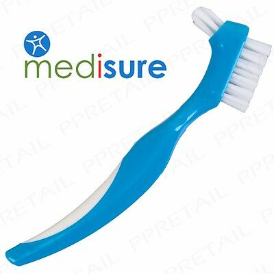 QUALITY Denture Brush LARGE/STRONG Precise Easy Grip Germ Remover/Deep Clean Aid