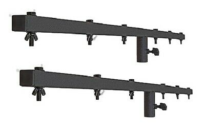 2 x Pulse Heavy Duty 1.5m Lighting Stand T Bar T-BAR Black DJ Disco Stage