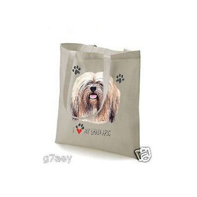 I Love My Lhasa Apso Design Printed Tote Shopping Bag