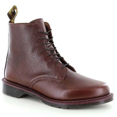 Dr Martens Eldritch Mens Leather 8-Eyelet Boots Dark Brown