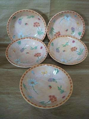 Royal Stafford Gardeners Journal Cereal Bowls X 5