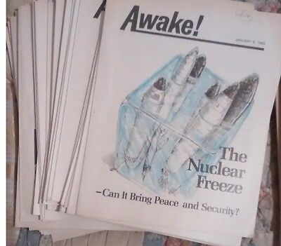 Jehovah's Witness  AWAKE    magazines    from Jan 1983 to Dec 1984