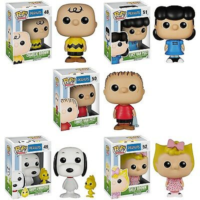 Peanuts Pop Vinyl!! Snoopy, Charlie Brown, Salley, Lusy And Linus Brand New