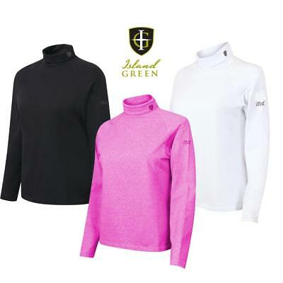 Island Green Ladies Roll Neck Top  Base Layer - Ideal for Winter Golf, 3 Colours