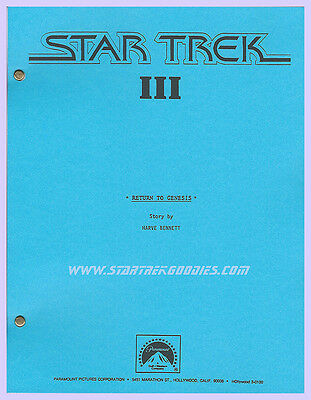 Star Trek III: The Search for Spock INITIAL STORY OUTLINE Paramount 1982 MINT!