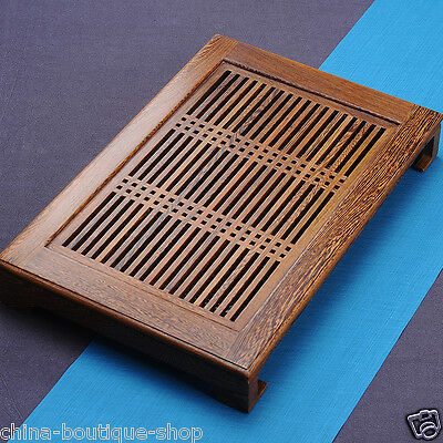 Boutique tea tray Wenge wood tea table Chicken-wing wood tea boat for tea house