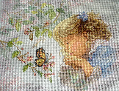 Dimensions Sunset Completed Counted Cross Stitch Tapestry Unframed Tender Gaze