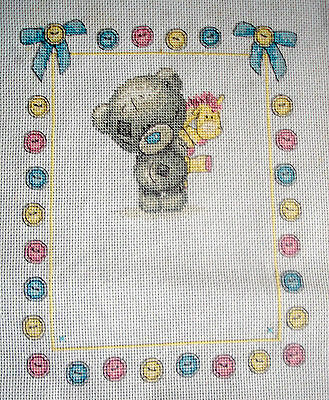 Completed Counted Cross Stitch Tapestry Unframe Picture Me To You Birth Sampler