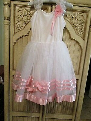 Pink Flowers Ballerina Dance Dress By Theatricals Costumes Size Xxlc Nylon Blend