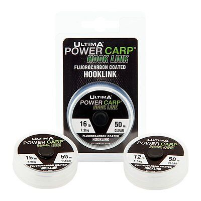 New Ultima Power Carp Fluorocarbon Coated Hook Link Coarse Fishing Line