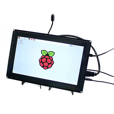 10.1 Inch Touch Screen LCD Case HDMI 1024x600 For Rpi 2 3 Model B B+ A+